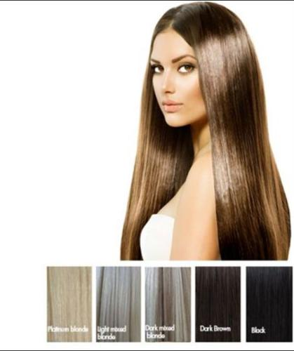 100% HUMAN HAIR Clip-IN Extensions - Dark Brown Indian