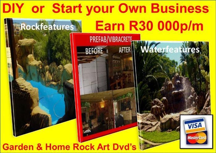 18 DIY Garden & Home Rock Art Video's on 2 x DvD's +CD