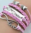 1D Vintage Infinity Love One Direction Charm Bracelet