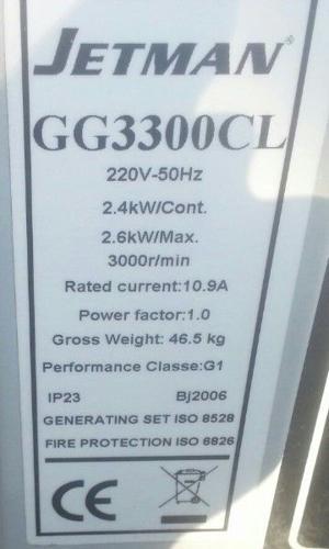 2-5kwa Jetman petrol generator for sale