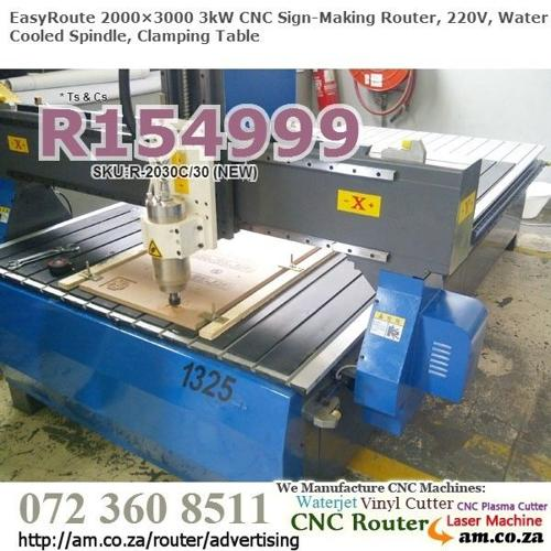 2000×3000mm 3kW CNC Signmaking Routers for Sale, 220V