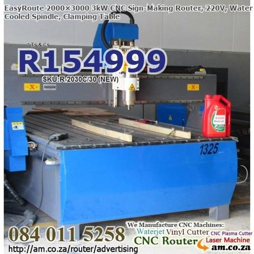 2000×3000mm 3kW CNC Wood Router for Sale, 220V