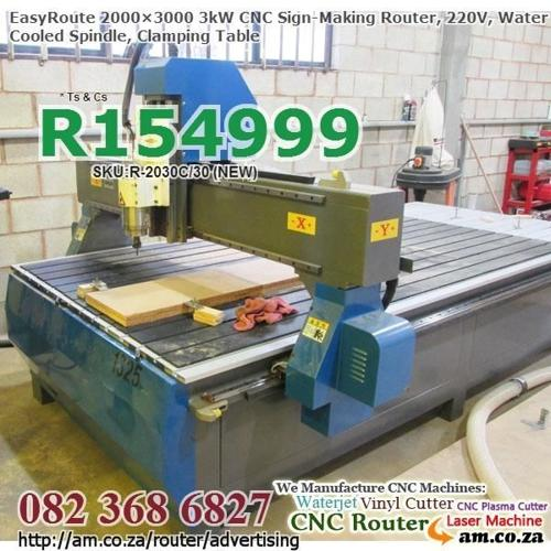 2000×3000mm 3kW CNC Wood Routering Machines for Sale,