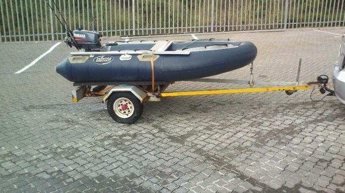 2.3m Infanta inflatable with 5HP Yamaha in excellent