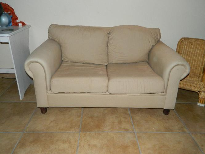 2 seater material couch