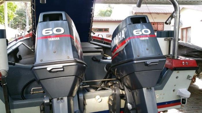 2 X 60HP YAMAHA OUTBOARD MOTORS