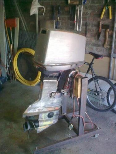 2 x 70 Hp Electric Start Johnson Outboard Motors + Controls on