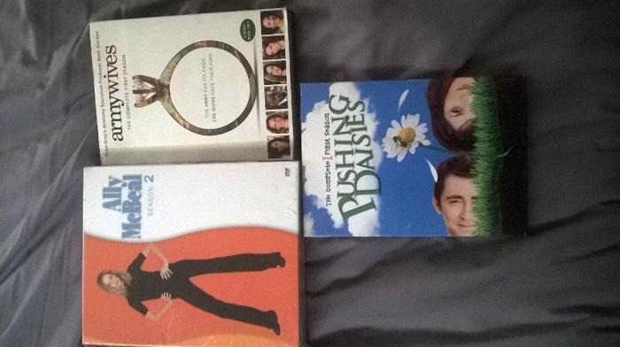 3 series boxsets tv.ally mcb.pushing daisies.army wives