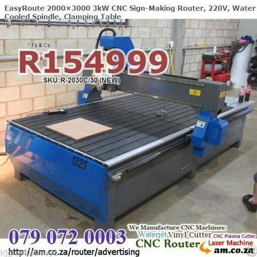 3kW Signmaking CNC Routing Machine, 220V Electricity,