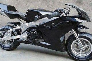 49cc pocket bike (out the box)