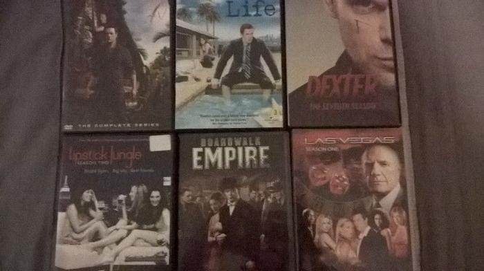 6 different series seasons dvds