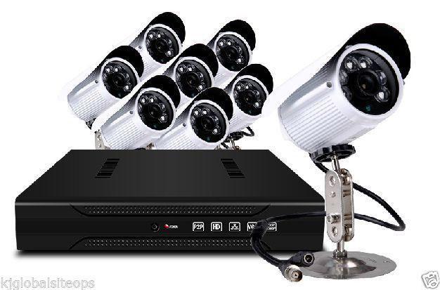 8 CH ECONOMIC CCTV 600 LINE CAMERAS KIT FOR CRAZY