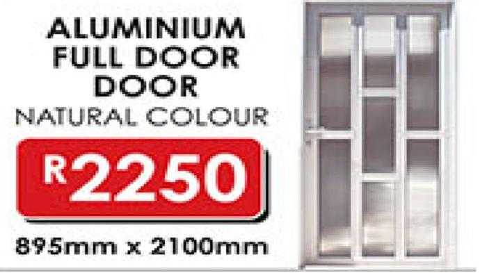 ALUMINIUM FULL DOOR NATURAL COLOUR WITH GLASS NATAL  sc 1 st  SouthAfricanListed.com & ALUMINIUM FULL DOOR NATURAL COLOUR WITH GLASS NATAL BUILDERS ...