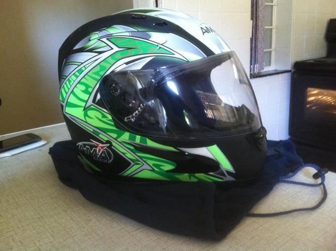 AMA motorcycle helmet