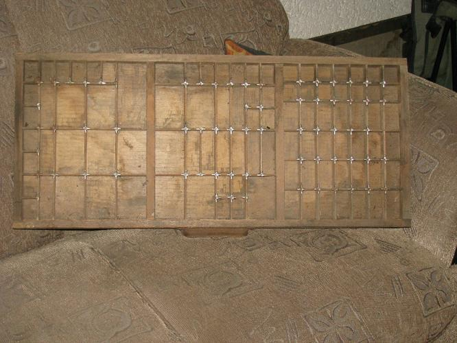 Antique Printers Tray