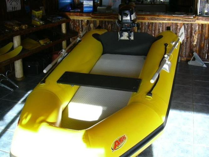 Ark inflatable boat with a 5hp Yamaha motor