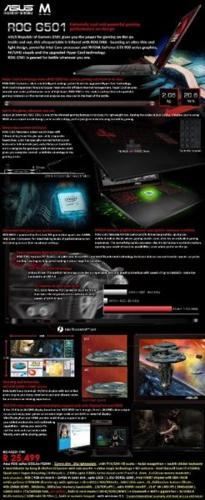 Asus ROG G501 i7 4K UHD Gaming Laptop w/ 4G GTX960