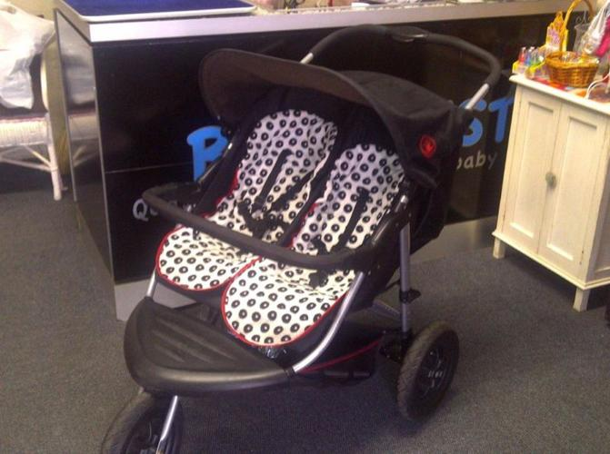 Baby weaver double jogger