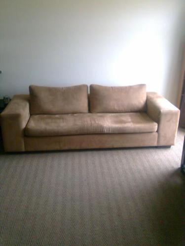 Bellacraft Suede Sofa / Couch Once Off Design (neg)
