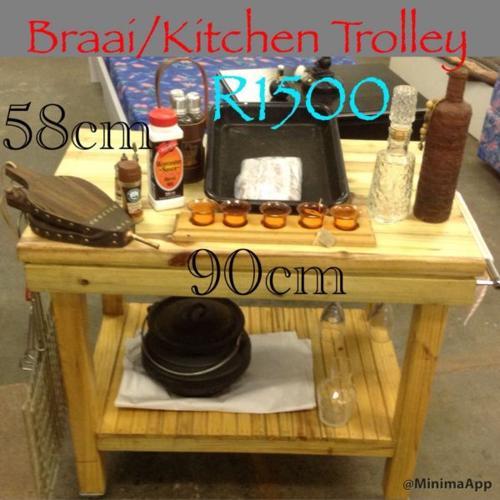 Big Bargains New Braai/Kitchen Trolley/Work