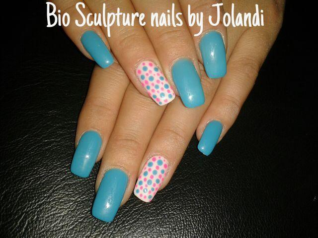 Bio Sculpture Gel Nails With Painted Nail Art In Brackenfell