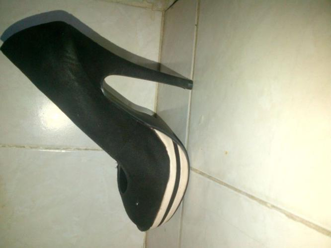 black and white legit heels