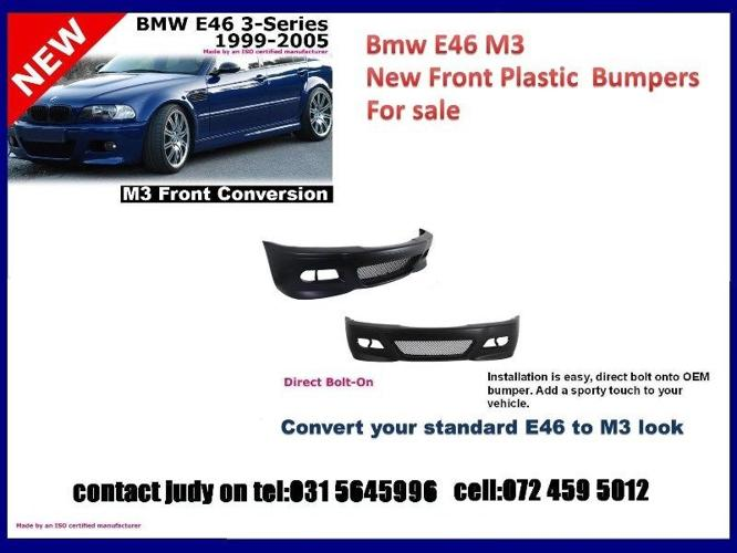 Bmw E46 m3 new front plastic bumpers for sale price: R 1950