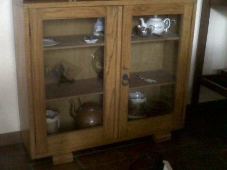 Book Case with Glass Doors Oak