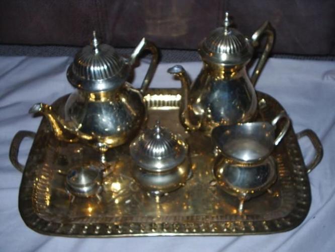 Brass tea and coffee set