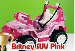 Britney SUV Pink Jeep Ride on