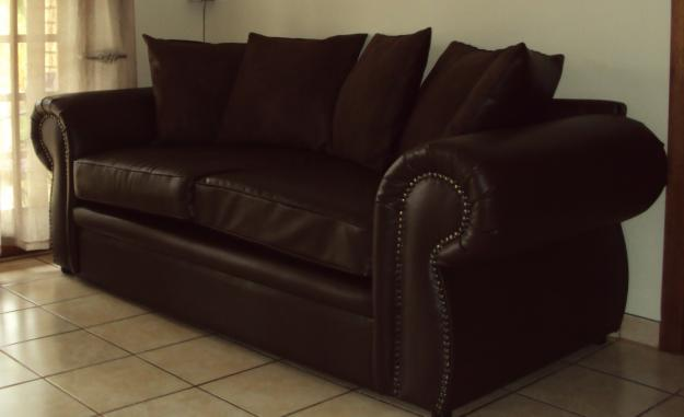 Brown Leather Lounge Suite for Sale