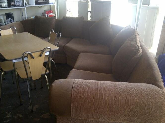brown lounge suite