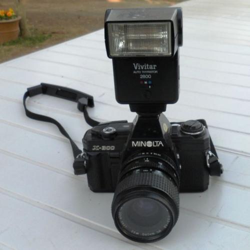 Camera, Minolta, X300, 35mm.