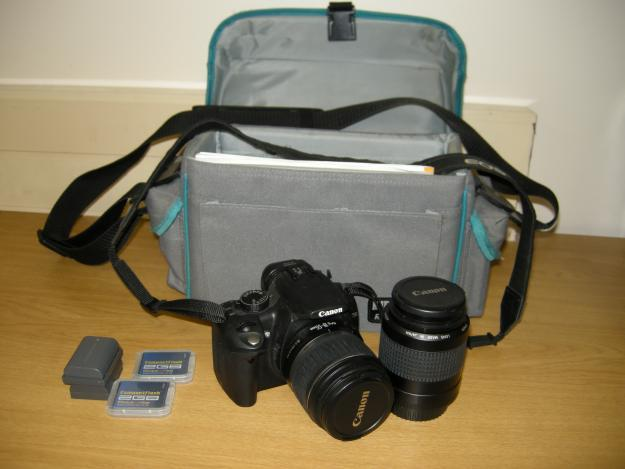 Canon 350D DSLR with accessories