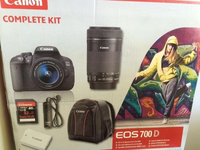 Canon 700D Complete kit bundle + Canon 50mm f1 8 mark II