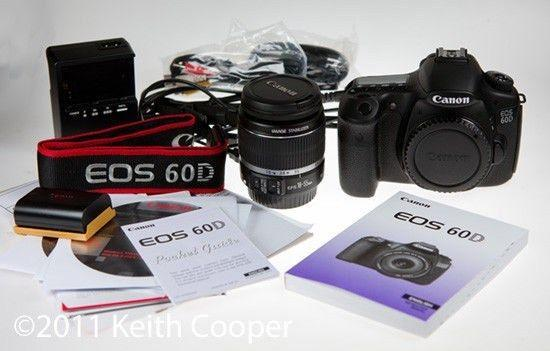 Canon EOS 60D DSLR with EF-S 18-55mm f/3.5-5.6 IS Lens