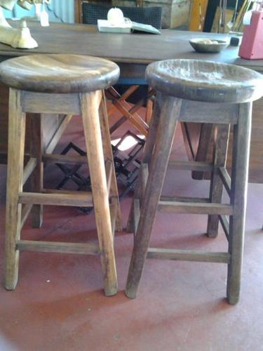 Cazmo 417-Style - Wooden Teak Bar Stools