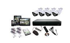 CCTV systems with 4 channels and remote viewing