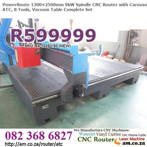 CNC Router w.Drum Style ATC 8Tool,New!,2+4+10Y Quality