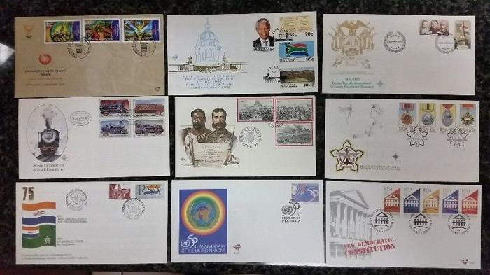 Collection of 9 FDC (First day covers)