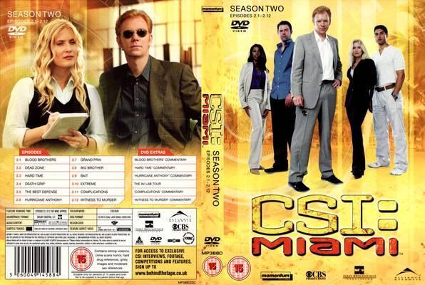 CSI Miami Season 1 and 2 Dvd's