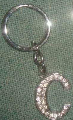 Dazzling diamante letter keychains - BULK deal or