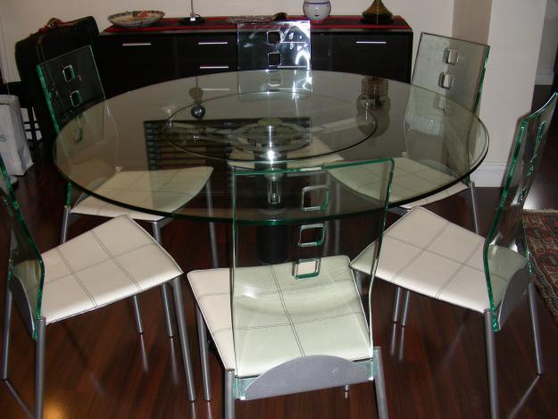 Dining room table with perspex chairs for sale in cape