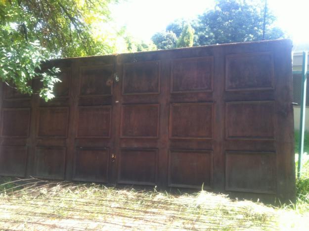 Double wooden garage door for sale in johannesburg gauteng classified - Double wooden garage doors ...