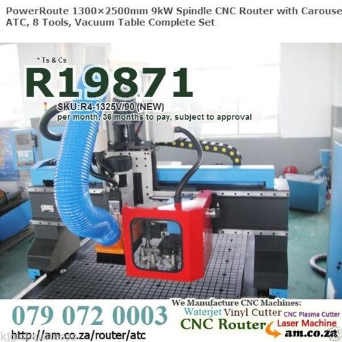 Drum Style ATC CNC Router w.9kW Spindle Brand NEW
