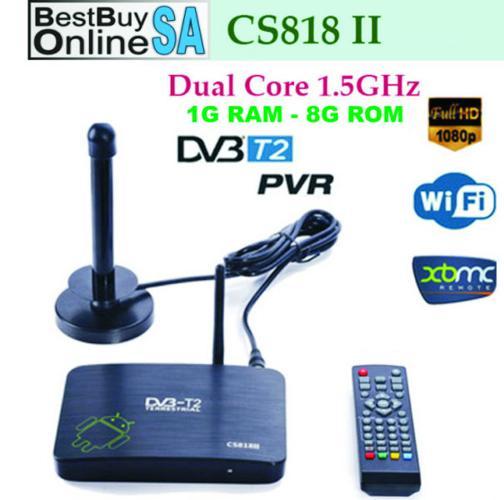 DVB-T2 PVR Android TV/PC BOX CS818II Dual Core 1G/8G