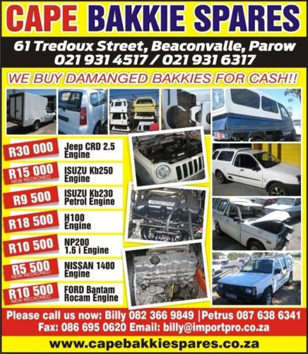 engine for bakkie & jeep for Sale in Parow, Western Cape