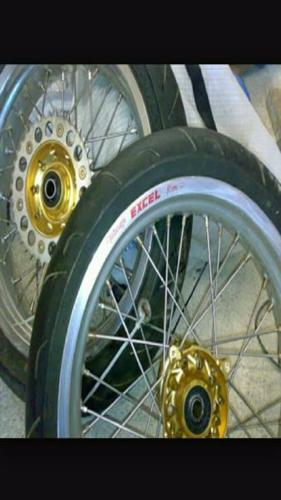 Excel supermoto rims + tyree for Sale in Rustenburg, North