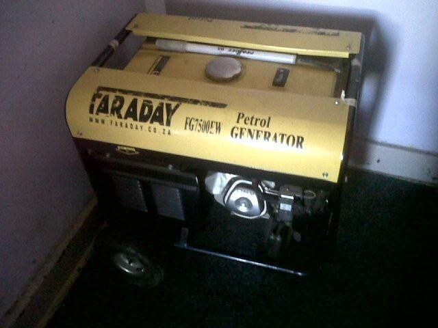 Faraday petrol generator for sale!!