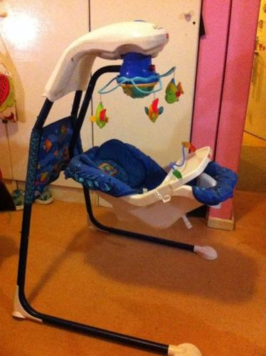 Fisher Price aquarium swing- immaculate condition for Sale